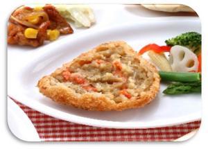 国産根菜と鶏肉のフライ.JPG
