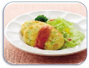 彩り野菜のハンバーグ.JPG