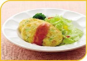 彩り野菜の豆腐バーグ.JPG