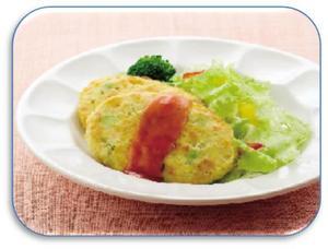彩り野菜の豆腐バーグ2.JPG