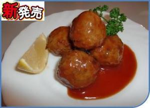ホルモン入り肉団子(トマトソース).JPG