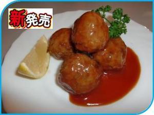 NKRホルモン入り肉団子(トマトソース).JPG
